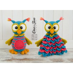 Quinn the Owl Lovey and Amigurumi Crochet Patterns Pack