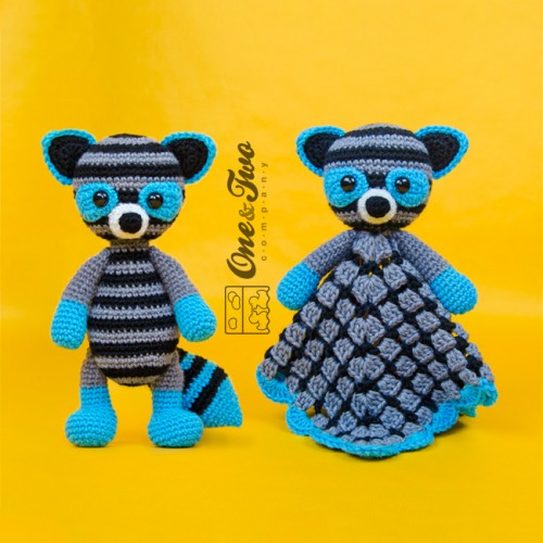 35 rounds of grey - Crochet amigurumi Raccoon pattern | 500x500