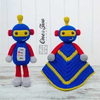 Robby the Robot Lovey and Amigurumi Crochet Patterns Pack