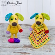 Scrappy the Happy Puppy Lovey and Amigurumi Crochet Patterns Pack
