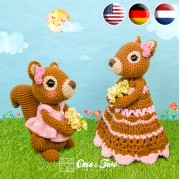 Suki the Squirrel Lovey and Amigurumi Crochet Patterns Pack - English, Dutch, German