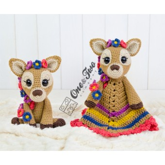 Meadow the Sweet Fawn Lovey and Amigurumi Crochet Patterns Pack