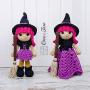 Willow the Witch Lovey and Amigurumi Crochet Patterns Pack