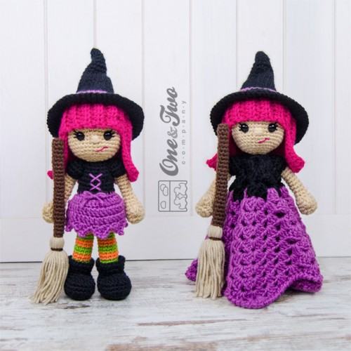 Crochet Patterns Free American Girl Dolls : Willow the Witch Lovey and Amigurumi Crochet Patterns Pack
