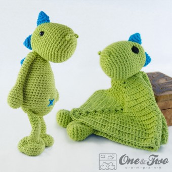 Dino Lovey and Amigurumi Crochet Patterns Pack