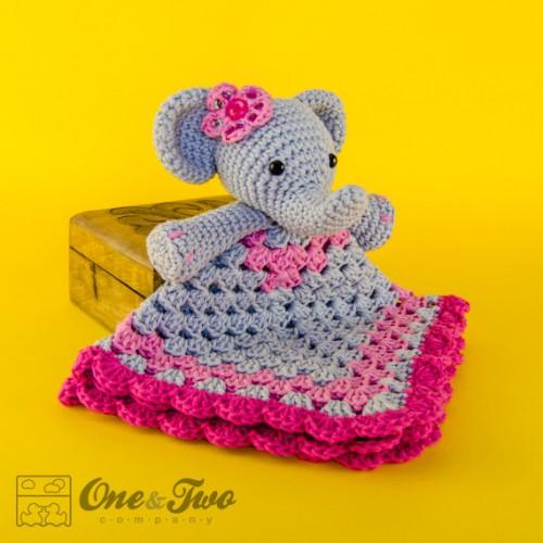 Free Crochet Pattern Elephant Lovey : Elephant Lovey and Amigurumi Crochet Patterns Pack