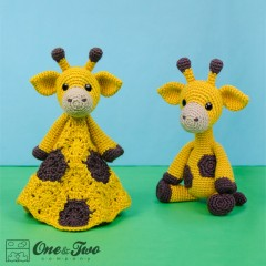 Geri the Giraffe Lovey and Amigurumi Crochet Patterns Pack