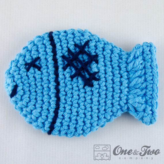 Free Crochet Fish Coaster Pattern : One and Two Company Workshop